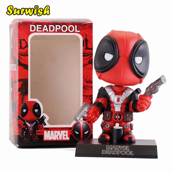 Surwish Deadpool Figure Toy Wacky Wobbler Bobble Head Action Figures Doll 13.5cm With Base