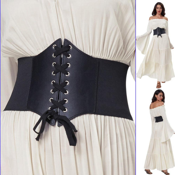 Corset Belt For Women Elastic Wide Belt Plus Size 3XL Female Black Cincher Elasticity Waistband Belts for Dress Accessories