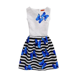 23064020d3e1 2017 Summer Mother Daughter Dresses Family Matching Clothing Teens Girls  Printed Dress Mom and Baby Girl