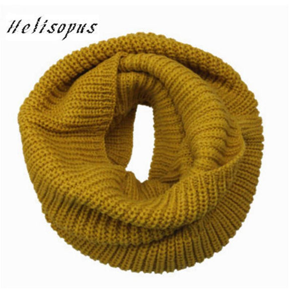Helisopus Warm Scarves for Women Fashion Knitted Neck Shawls Bandana Women Winter Scarf Pashmina Wool Collar Neck Warmer