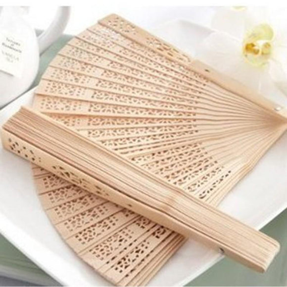 Chinese Aromatic Wood Pocket Folding Hand Held Fans Elegent Home Decor