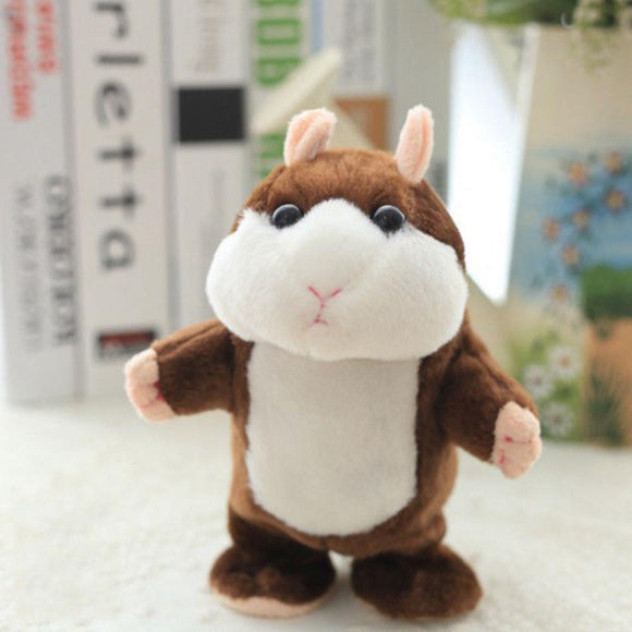 Electric Smart Little Walking Talking Hamster Record Repeat Stuffed Plush Animal Educational Toy for Children Gift
