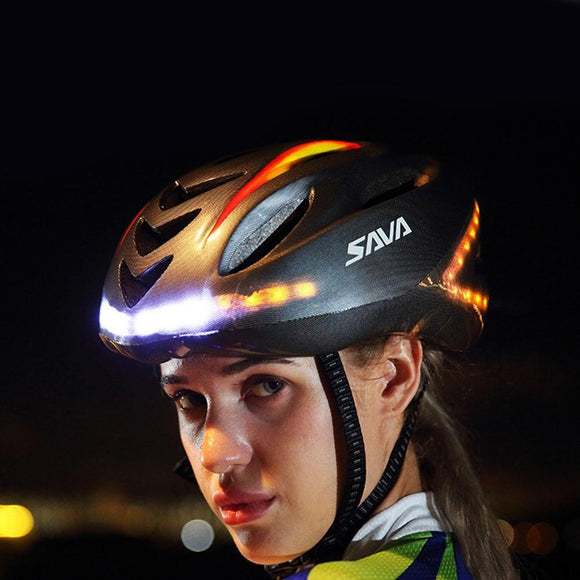 LumiParty Cycling light helmet Smart Steering MTB Helmet Mountain Bike Accessory USB Chargeable  safe men women 57-62cm