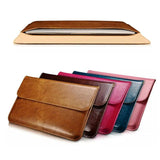 Luxury Genuine Leather Sleeve For Apple Macbook Air 13 Laptop Sleeve Pouch Cases For Mac book 13.3 inch Business Cover Funda