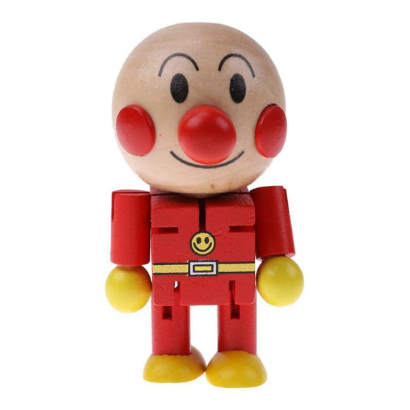 Baby Wooden Toy Twistable Cute Japanese Cartoon Bread Man Doll Kids Children Partner Toy Wood Puppet Figures Action Toys