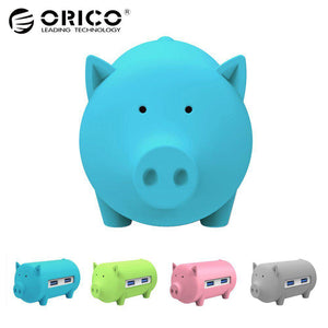 ORICO Litte Pig Hub All in 1 High Speed Usb 3.0 Hub 3 Port USB Power Interface with TF SD Card Reader for MacBook Air Laptop PC