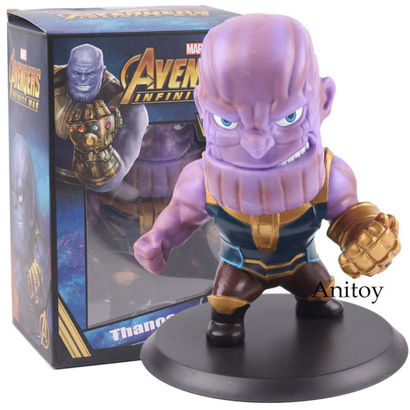 Marvel Avengers Toys Infinity War Thanos Iron Man Captain America Black Panther Hulk Bobble Head Dolls PVC Action Figure Toy