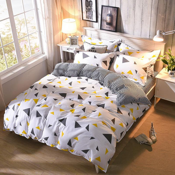 Modern Geometric Twin Full Queen Size Duvet Cover Single Double Bed Duvet Cover For Girls Boys XF348-6