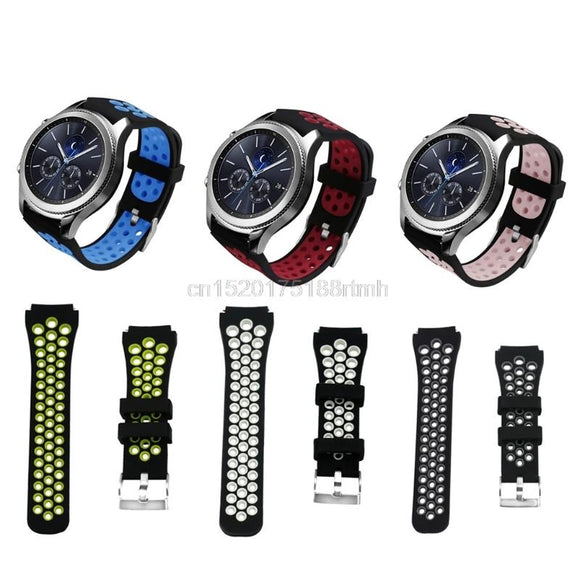 Silicone Strap Watchband For Samsung Gear S3 Frontier Classic SM-R760 SM-R770 Smart watch Wristband Strap Sport Style Drop ship