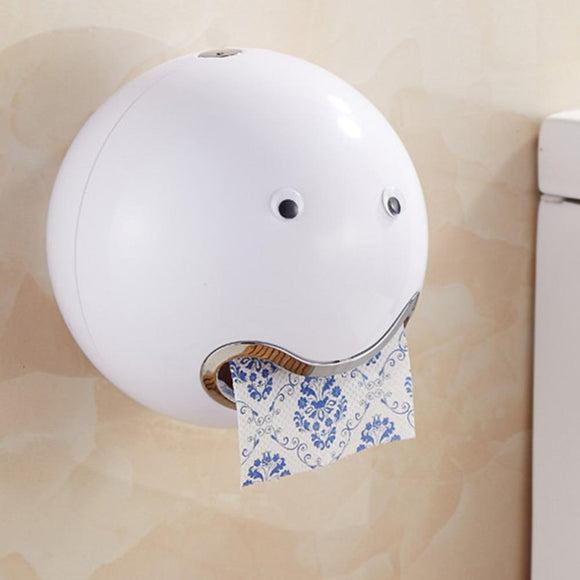 Cute Ball Shaped Novelty Tissue Holder Strong Suction Cup Kitchen Bathroom Toilet Towel Rack Paper Box Roll Paper Holder