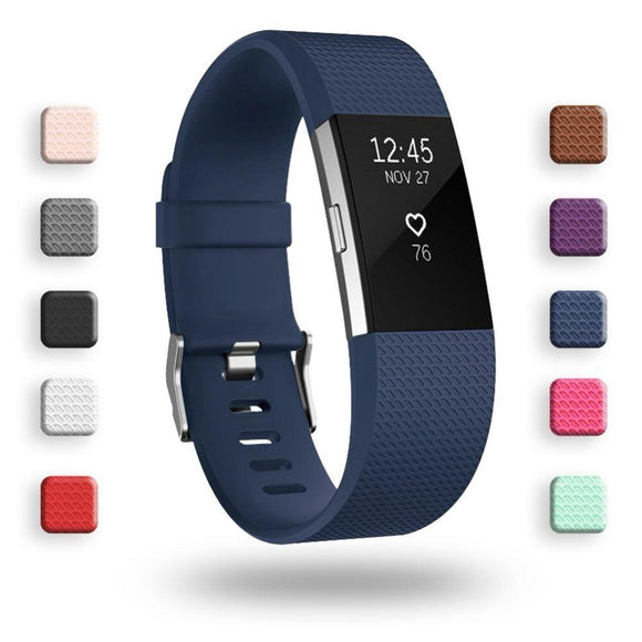Colorful Silicone Watch Strap for Fitbit Charge 2 Small Large Replacement Sport Watch Band Bracelet  for Fitbit Charge 2