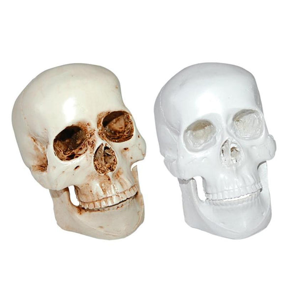 Halloween 3D Skull Mold Prop Skeleton Head Halloween Coffee Bars Ornament Haunted House Decoration Supplies