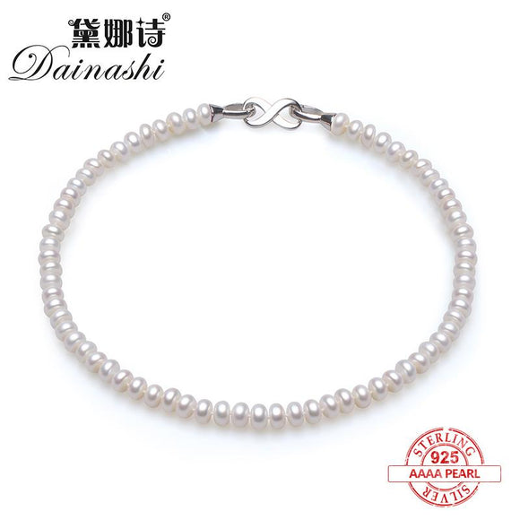 Dainashi classic and noble natural bread round pearl necklace with 925 silver accessories fine jewelry for party/wedding