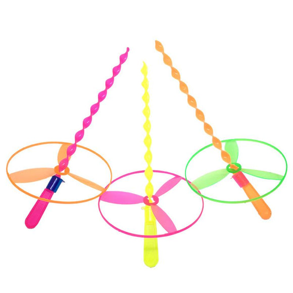 New Hot Flying Fairy Novelty Toys Bamboo Dragonfly Puzzle Outdoor Toy Rotating Flywheel Ufo Child Gift