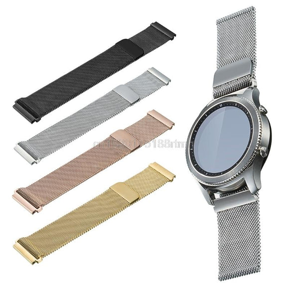Metal Stainless Steel Milanese Loop Watch band Strap For Samsung Gear Sport R600