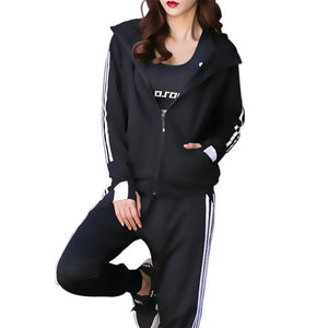 Quick Dry Two Pieces Sports Suits Slim Sports Set Long Sleeve Workout Fitness Running Gym Yoga Activewears for Women Ladies