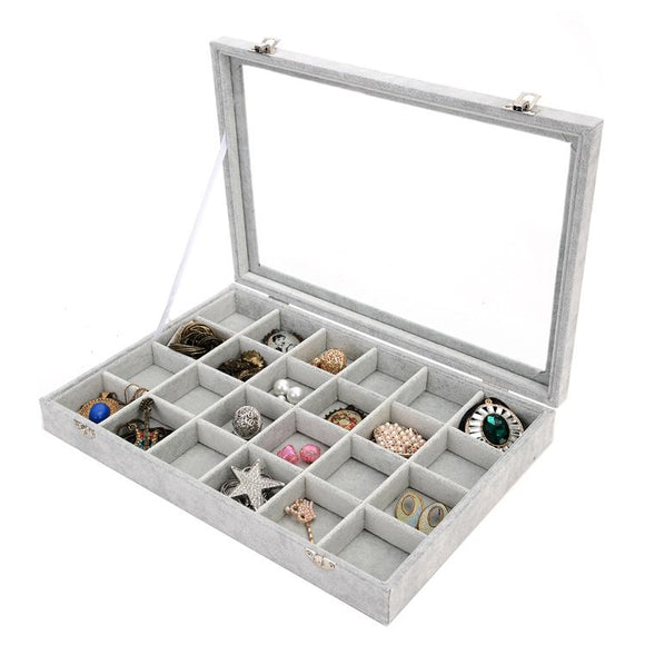 2018 New Jewelry Box for Jewelry packaging & display jewelry organizer jewelry holder Storage Case for Earrings Rings Bracelets