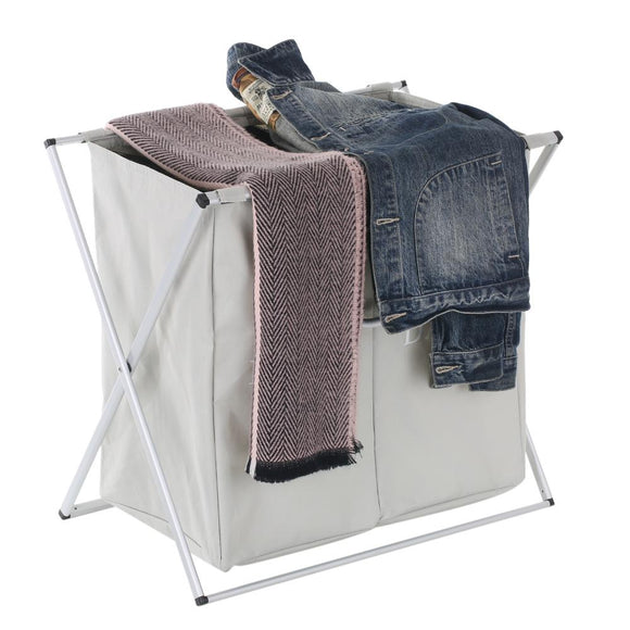 Foldable Oxford Laundry Basket Box Hamper Mesh Drawstring Dirty Clothes Bin Organizer with Detachable Frames Clothes Storage Box