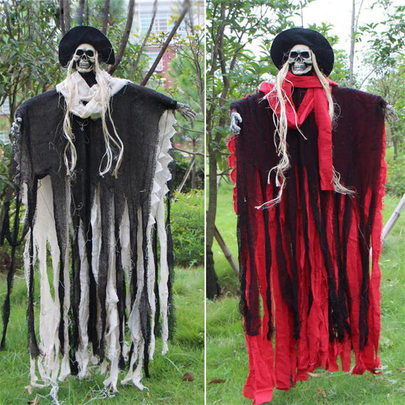 Halloween Party Decorations Hanging Ghost Haunted House Bar Decor Supplies Voice Control Ghost Ornaments Halloween Scary Props