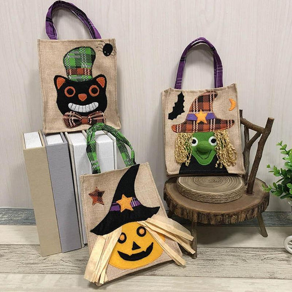 Halloween Gift Bags Craft Handbag Candy Cookie Storage Pouch Holders Bar Shopping Mall 3D Decorations Storage Bags