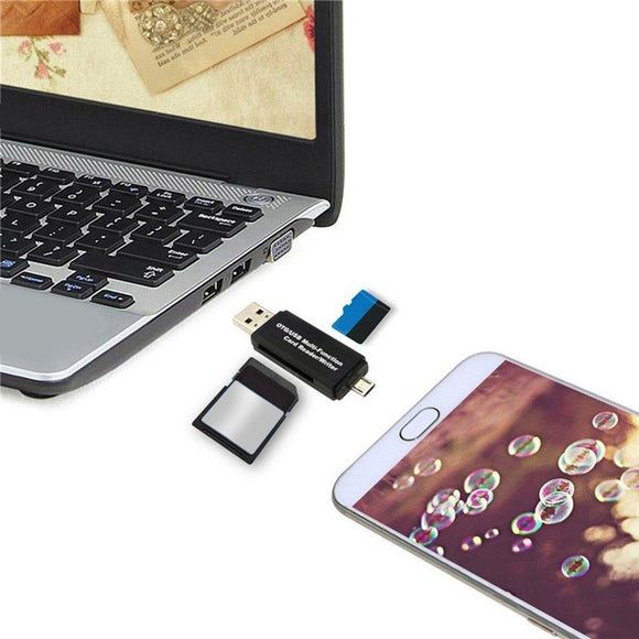 5pcs Smart OTG Card Reader Writer High-speed USB 2.0 SD Micro-SD Card Reader USB Adapter for Android Phone Computer