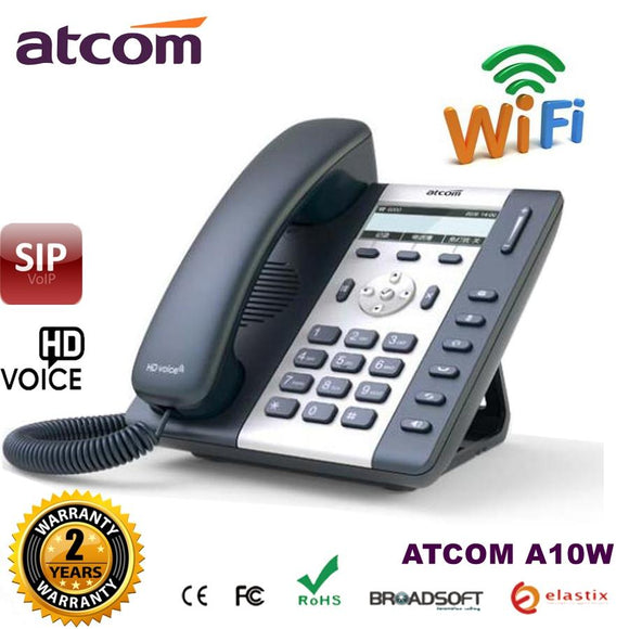 (Ship to Brazil) ATCOM A10W 1 SIP WIFI Phone  Entry-level business  wireless IP Phone , Desktop wifi  IP Phone voip sip  phone