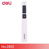 Deli Laser Pointer Cute Pen School&Office Supplies Red High Power Burning LaserPointer Side Presenter Of Presentation PPT