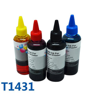 4 ColorsX100ml T1431 Hign Quality Refill Ink For Inkjet Printer For Epson ME Office 960FWD/900WD/940FW/85ND/WF-7018 Printers Ink