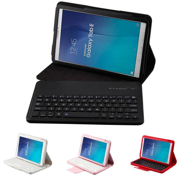 Magnetic Removable Detachable Bluetooth Keyboard Flip Leather Stand Case For Samsung Tab E 9.6inch T560