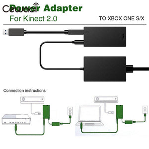 Controller Video Adapter Game Machine Sensor Adaptor AC Adapter Sensor Adapter for Xbox One S/X US Port for Kinect 2.0