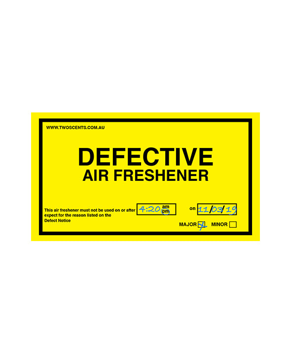 Defect Sticker Air Freshener