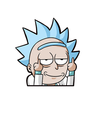 Rick Fingers Anime Peeker Sticker - Car Vinyl Decal