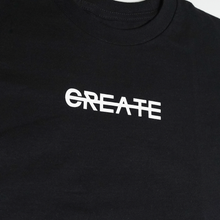Load image into Gallery viewer, CREATE LOGO BLACK TEE
