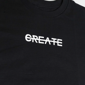 CREATE LOGO BLACK TEE