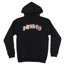 Load image into Gallery viewer, CREATE RANSOM BLACK HOODIE