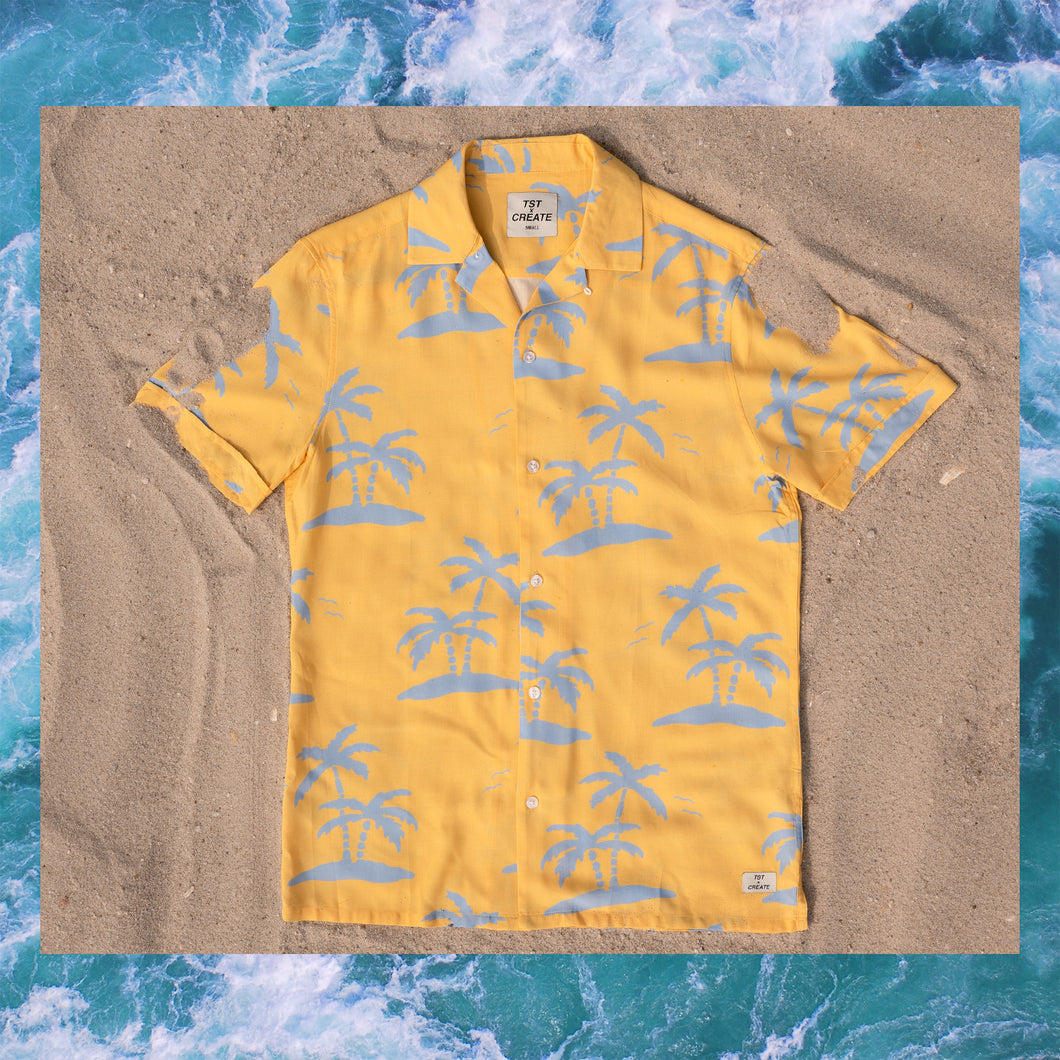 TST BUTTON-UP YELLOW