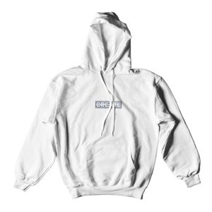 CREATE LOGO WHITE HOODED SWEATSHIRT
