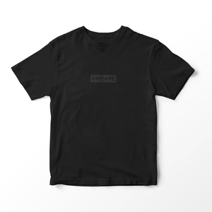 CREATE LOGO BLACK SHORT SLEEVE