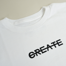 Load image into Gallery viewer, CREATE LOGO WHITE TEE