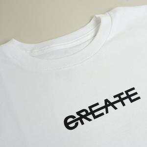 CREATE LOGO WHITE TEE