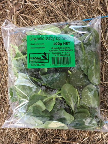 Bag of baby spinach