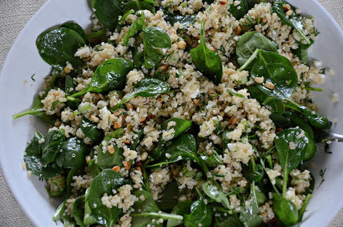 Spinach and Quinoa Salad with Feta and Dill