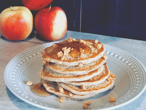 Spiced Apple Protein Pancakes & Apple Butter, Gluten-Free