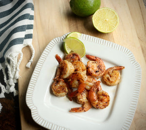 Keto Lemon Pepper Shrimp Meal