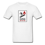 In Case Of Election Get Off Ass - Unisex T-Shirt - white. Election 2020, vote blue no matter who