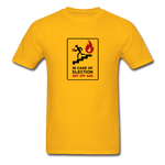In Case Of Election Get Off Ass - Unisex T-Shirt - gold. Election 2020, vote blue no matter who.