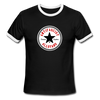 Antifascist Allstar Men's Ringer T-Shirt - black/white