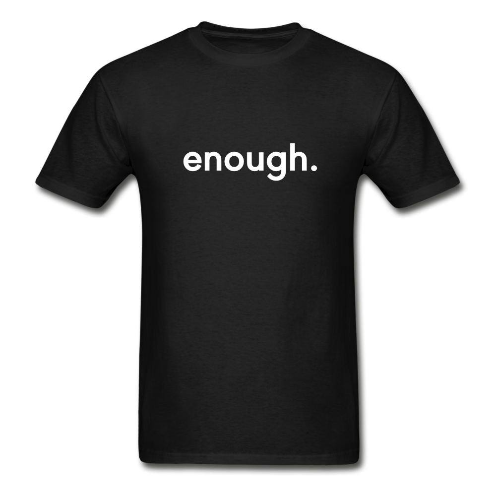 Enough Men's T-Shirt - black. Blm. Police brutality