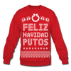 Feliz Navidad Putos Ugly Holiday Sweater - Unisex - red
