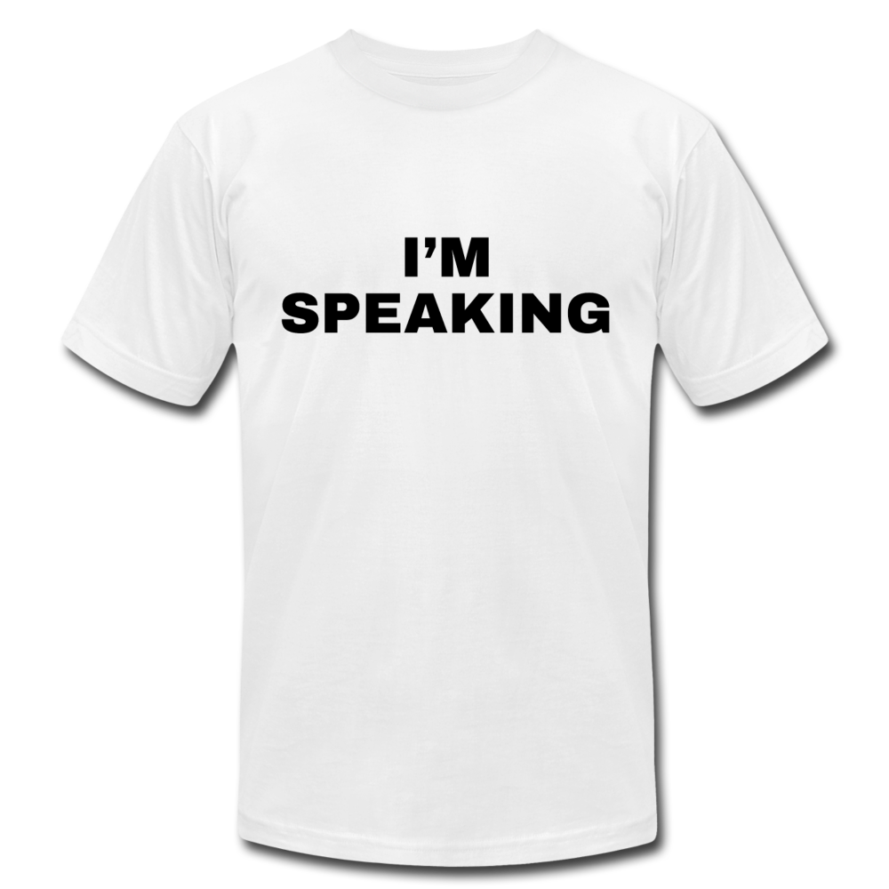I'm Speaking Kamala Harris Unisex Jersey T-Shirt - white